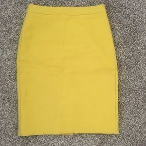 J Crew citron wool no. 2 pencil skirt size 0